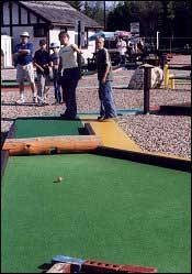 The 36-hole miniature golf facility is well maintained.